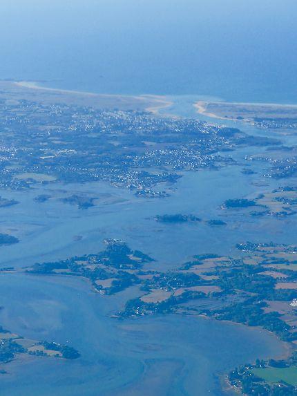 Étel, vue du ciel, Morbihan