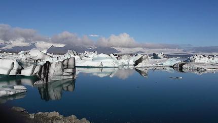 Le glacier de Jökulsarlon en Islande