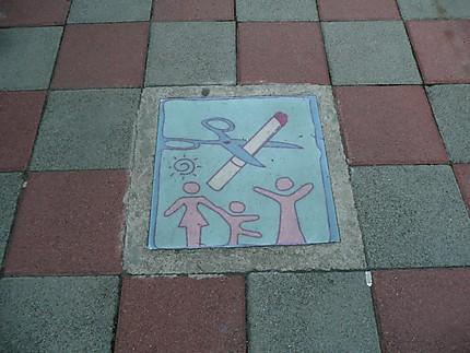 dans la rue à Tamsui