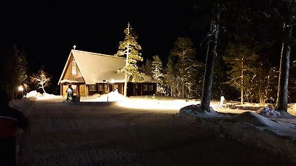 L'église de Saariselka en Laponie finlandaise