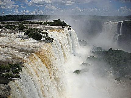 Vue des chutes d'Iguazú