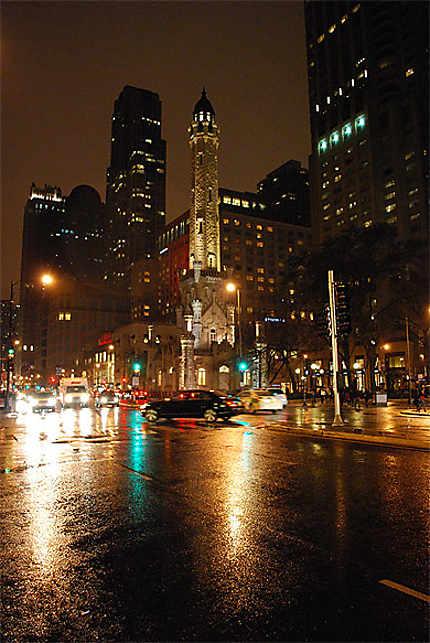 Soirée pluvieuse à Chicago
