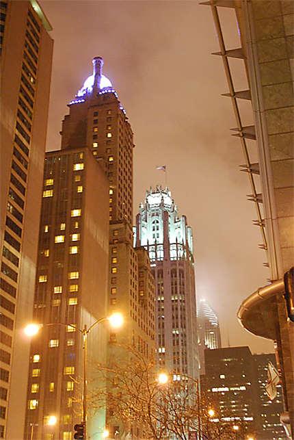 Nuit pluvieuse à Chicago