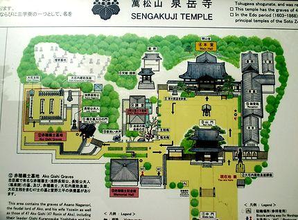 Plan du temple Sengaku-ji, Tokyo