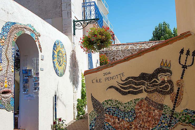 Quartier des coquillages aux Sables-d'Olonne (Vendée)