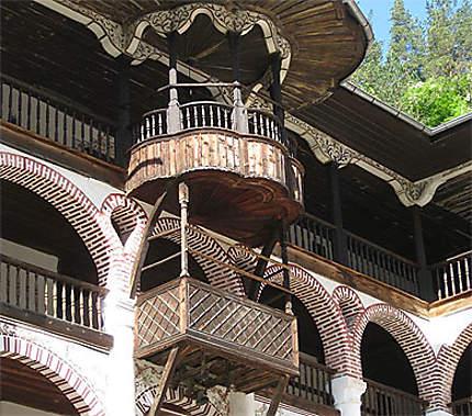 Monastère de Rila détail des galeries