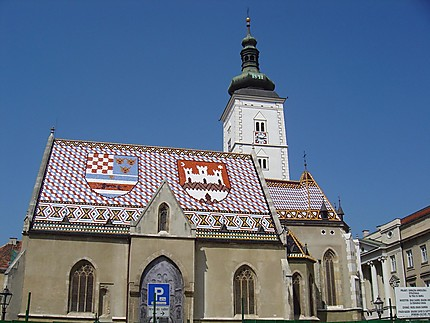 Zagreb : Eglise saint-Marc