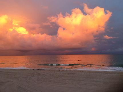 Ciel d'orage à Fort Lauderdale, Floride