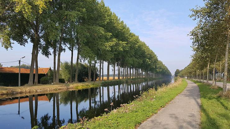 Le chemin de Damme, ex-port de Bruges