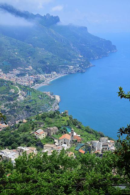 Vue sur la mer depuis Ravello