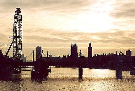 Vue depuis Waterloo Bridge