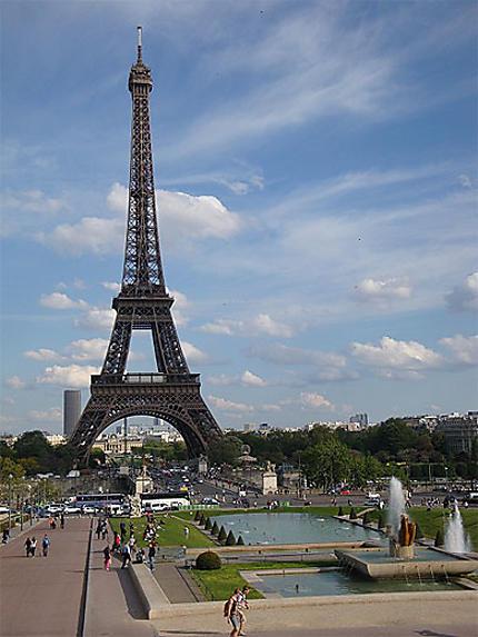 La Tour Eiffel Depuis Les Jardins Du Trocadero Trocadero 16eme