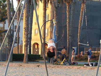 Parcours de santé sur Monica beach