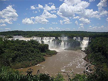 Vue des chutes d'Iguazú du côté brésilien