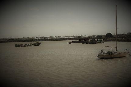 Cimetière des bateaux à Noirmoutier
