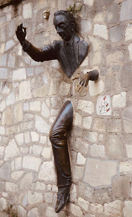 Le passe-muraille de Montmartre