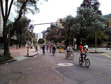 Bogota - Ciclovia le dimanche Carrera 7