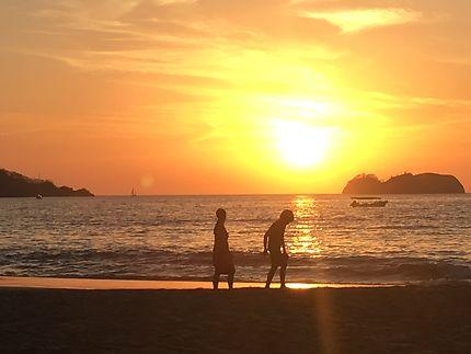 Coucher de soleil - Playa Hermosa - Costa Rica