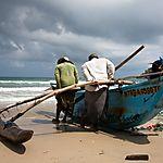 Pêcheurs prenant la mer