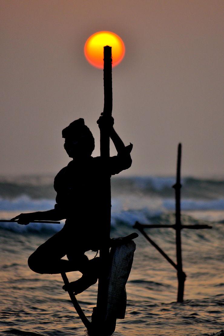 Pêcheur à Dickwella, Sri Lanka, par Blackrider