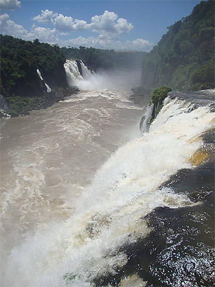 La rivière Iguaçu après la gorge du Diable