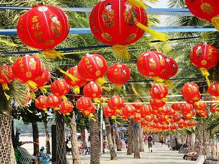 Route de la plage au nouvel an Chinois