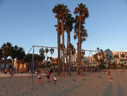La belle plage de Monica beach