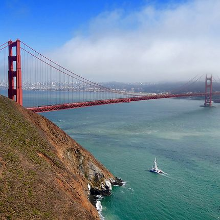 La meilleure vue du Golden Gate de Marin Headlands