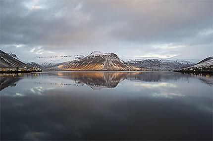 Sunrise in Isafjordur