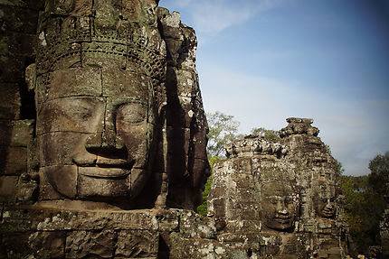 Sourire à Angkor Thom, Cambodge