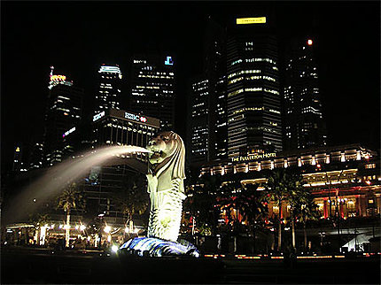 Le Merlion et le centre financier