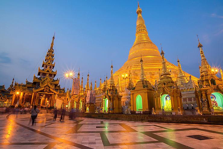 Yangon et la pagode Shwedagon (Birmanie)