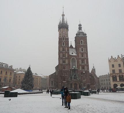 Cracovie sous la neige