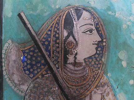 Fresque au Palais de Bundi