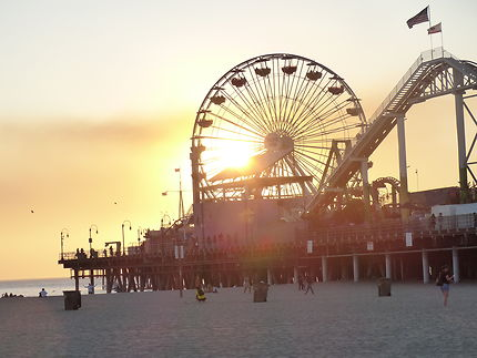 La grande roue sur Monica beach