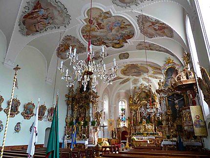 Intérieur de l'église d'Alpbach