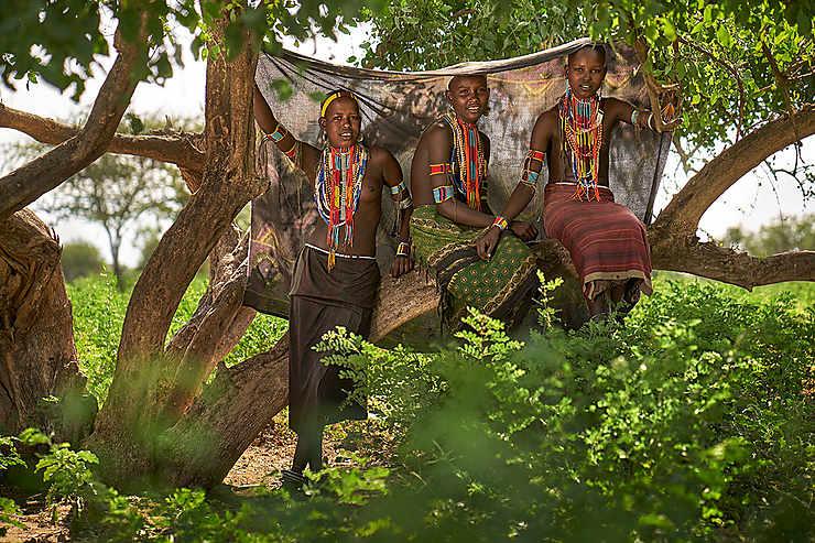 Femmes du peuple Arboré, Vallée de l'Omo, Éthiopie