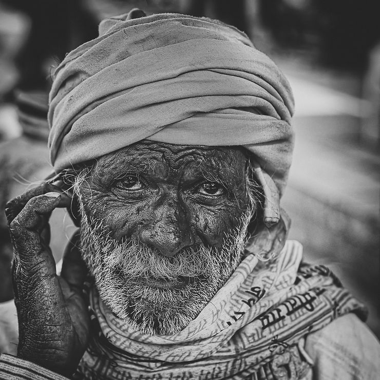 Portrait de rue à Udaipur, Inde
