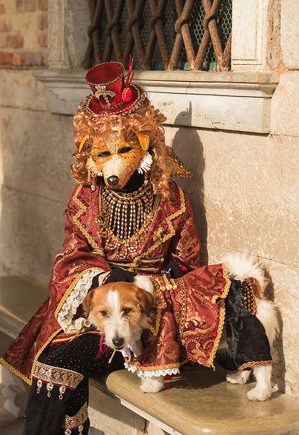 Carnaval de Venise, maître et chien