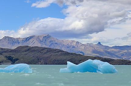 Icebergs sur le lac Viedma