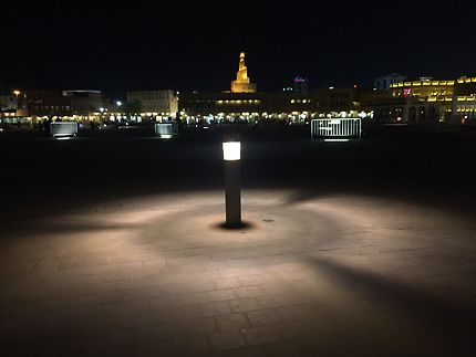 La ville de Doha s'illumine par la nuit...