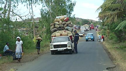 Controle de gendarmerie à Madagascar