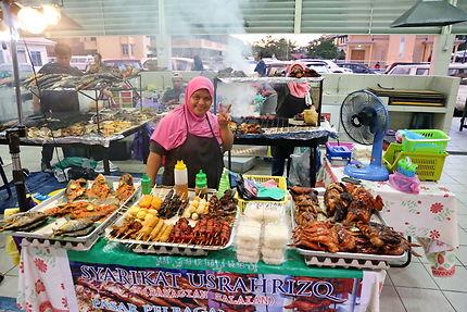 Marché de nuit à Brunei