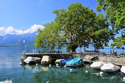 Repos au bord du lac à Montreux