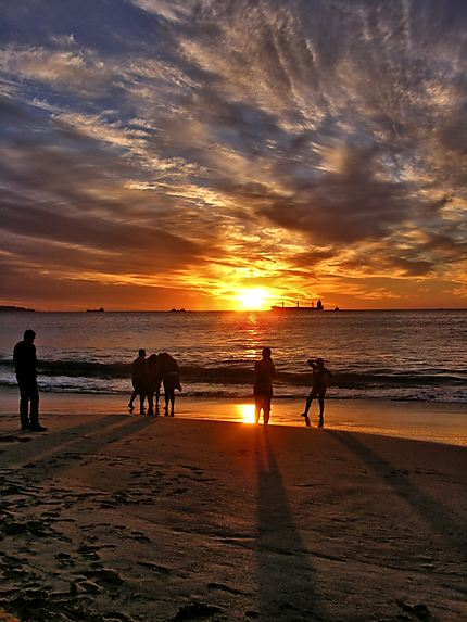 Coucher de soleil, viña del mar, Chili