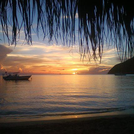 Coucher de soleil à Grande Anse