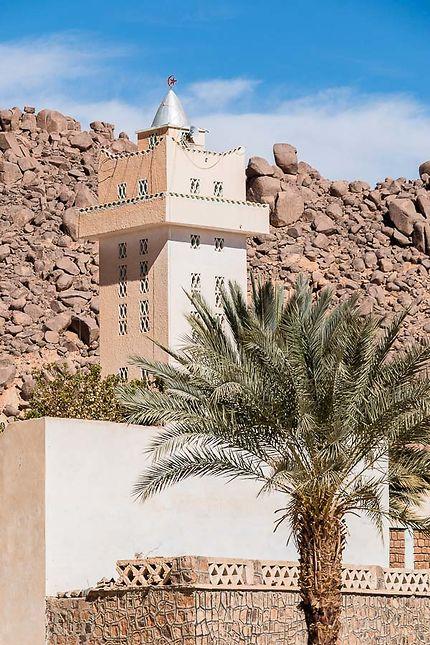 Djanet - Minaret et palmier