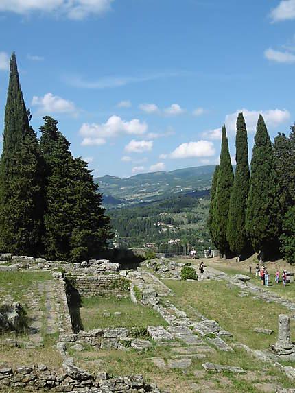 Les ruines Etrusques à Fiesole