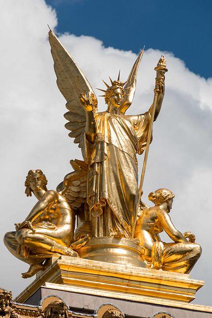 La Poésie, sculpture de Charles Gumery