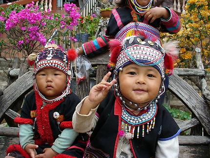Portraits d'enfants en Thaïlande